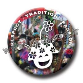 Badge Respect Tradition Passion 38mm