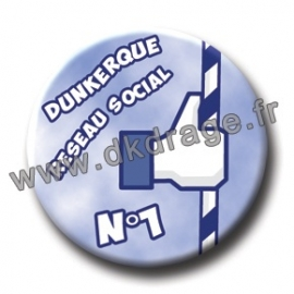 Badge Made in DK DK Réseau Social N°1 38mm