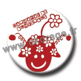 Badge Made in DK Mr Carnaval Rouge