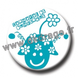 Badge Made in DK Mr Carnaval Bleu