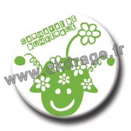 Badge Made in DK Mr Carnaval Vert