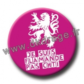 Badge Made in DK Flamande Pas Chti