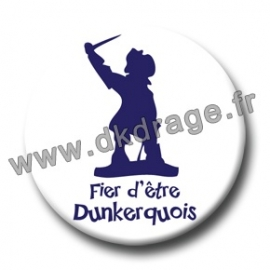 Badge Made in DK Fier d'être Dunkerquois