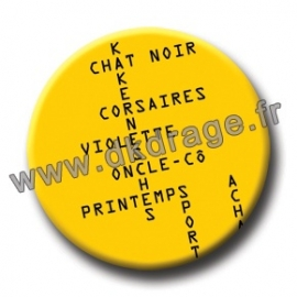 Badge Made in DK Bals croisés 38mm