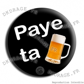 Badge Made in DK Paye ta pinte !