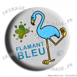 Badge Made in DK Flamant Bleu