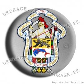 Badge Made in DK Grandes armes de Dunkerque