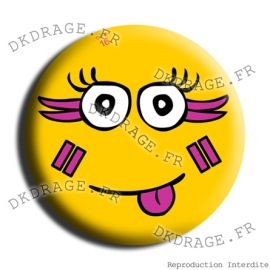 Badge Made in DK Le sourire