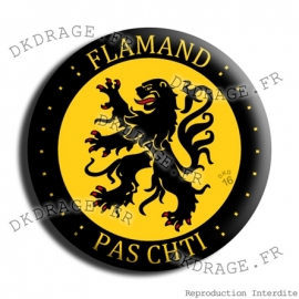 Badge Made in DK Flamand pas chti V2.0
