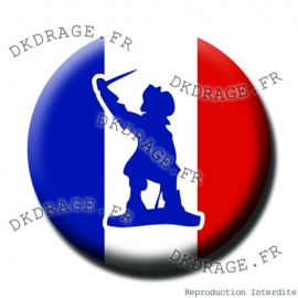 Badge Made in DK Jean Bart Drapeau français - Collector Euro France 2016