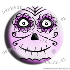 Badge Made in DK Tete de mort