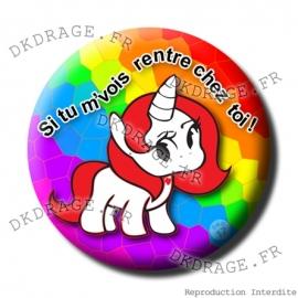 Badge Made in DK Licorne