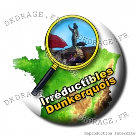 Badge Made in DK des Irreductibles Dunkerquois