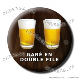 Badge Made in DK Gare en double file