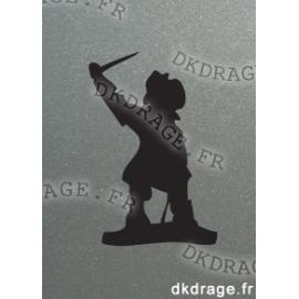 Sticker Jean Bart Noir