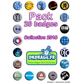 Pack 20 badges - Collection 2016
