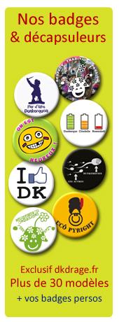 Nos badges sont exclusifs dkdrage.fr et fabriqués à Dunkerque par nos soins