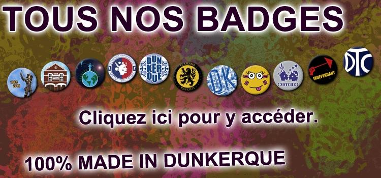 Plus de 110 modèles de badges en exclusivité chez dkdrage.fr