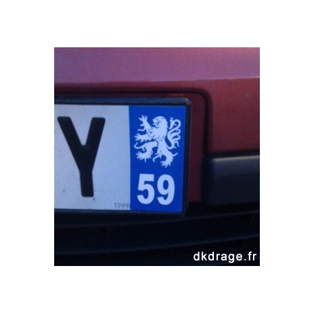Sticker plaque 59 - Lion Flandres - Auto / Moto