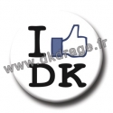 Badge I LIKE DK 38mm
