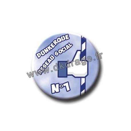 Badge / Magnet DK Réseau Social N°1 38mm