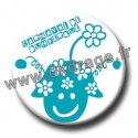 Badge / Magnet Mr Carnaval Bleu