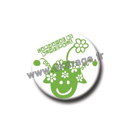 Badge / Magnet Mr Carnaval Vert