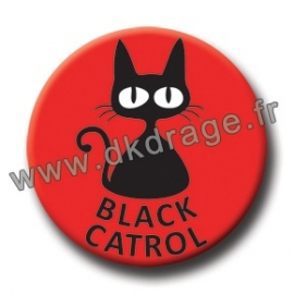Badge / Magnet Black Katrol 38mm