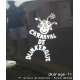 Sticker Mr Carnaval Blanc