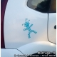 Sticker Mr Carnaval Turquoise