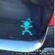 Sticker Mr Carnaval Turquoise