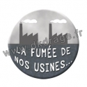 Badge / Magnet Nos usines 38mm