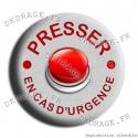 Badge / Magnet En cas d'urgence