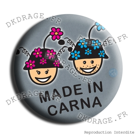 Badge Couple Made in Carna