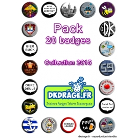 Pack 20 badges - Collection 2015