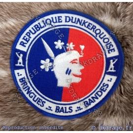 Ecusson brodé République Dunkerquoise - Version 2.0