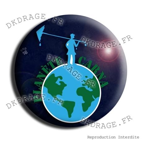 Badge Planète carnaval