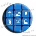 Badge / Magnet Symboles Dunkerquois