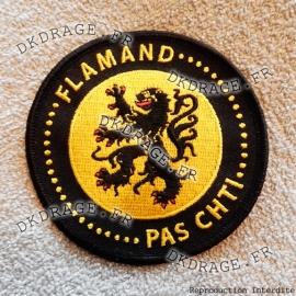 Ecusson brodé Flamand pas Chti - V2