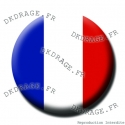 Badge / Magnet Drapeau français - Collector Euro France 2016