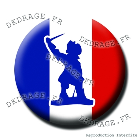 Badge Jean Bart Drapeau français - Collector Euro France 2016