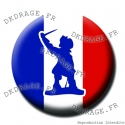 Badge / Magnet Jean Bart Drapeau français - Collector Euro France 2016