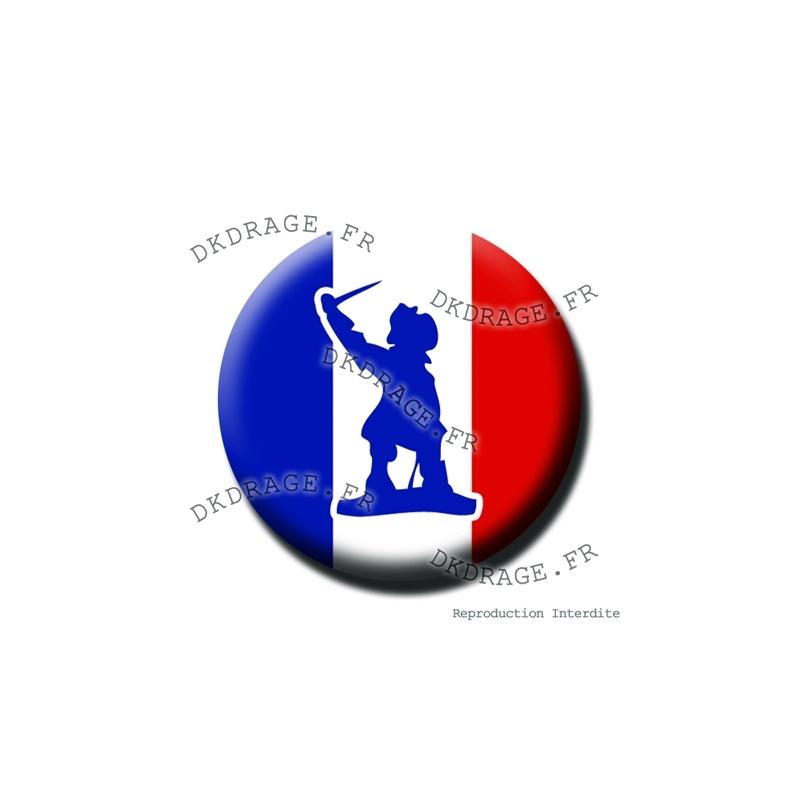 badge magnet jean bart drapeau fran ais collector euro france 2016. Black Bedroom Furniture Sets. Home Design Ideas