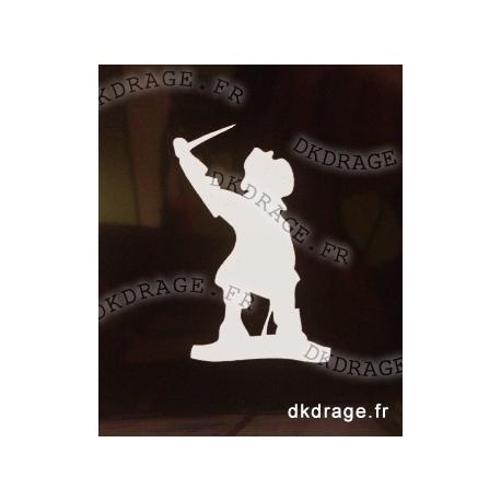 Sticker Jean Bart Blanc