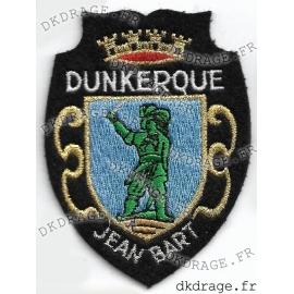 Ecusson brodé Blason Dunkerque Jean Bart