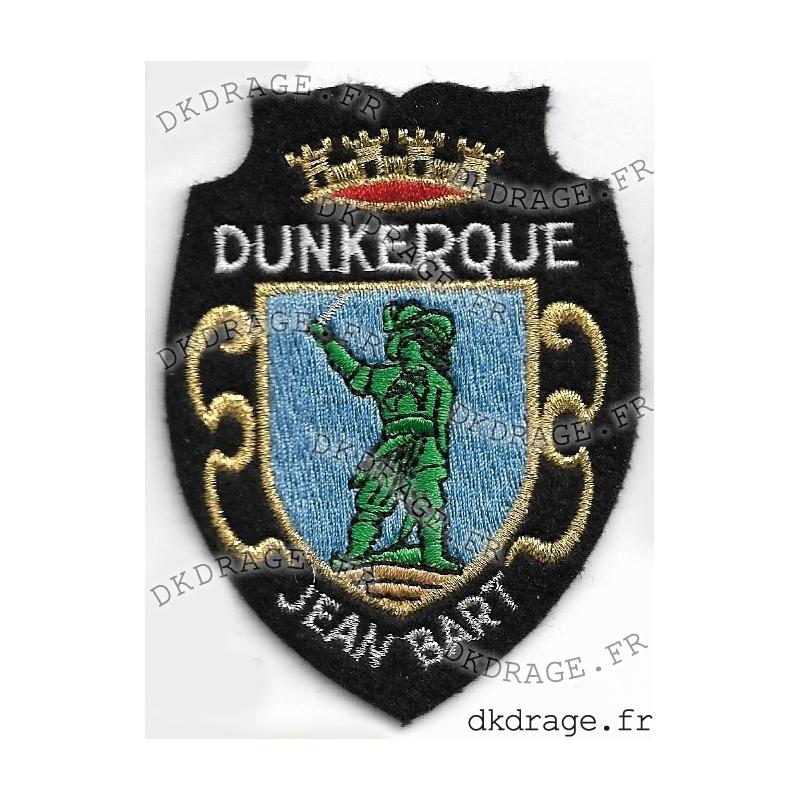 Ecusson brodé Blason Dunkerque Jean Bart 6fbada6b0c2
