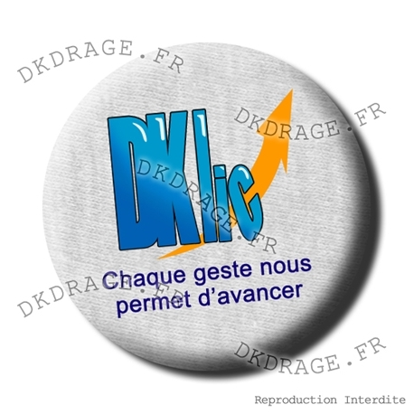 Badge Asso DKLIC version grise