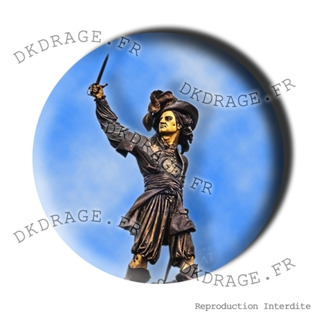 Badge Statue de Jean Bart