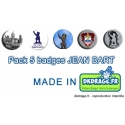 Pack 5 badges Jean Bart
