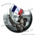 Badge / Magnet Jean Bart 1er supporter Dunkerquois